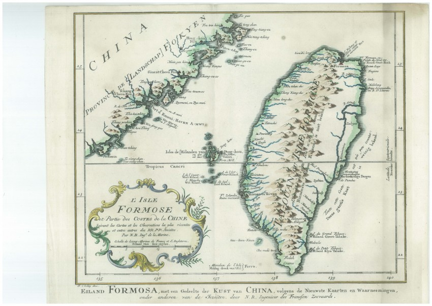 L'Isle Formose et Partie des Costes de la Chine [Island of Formosa (Taiwan) and part of the coast of China]
