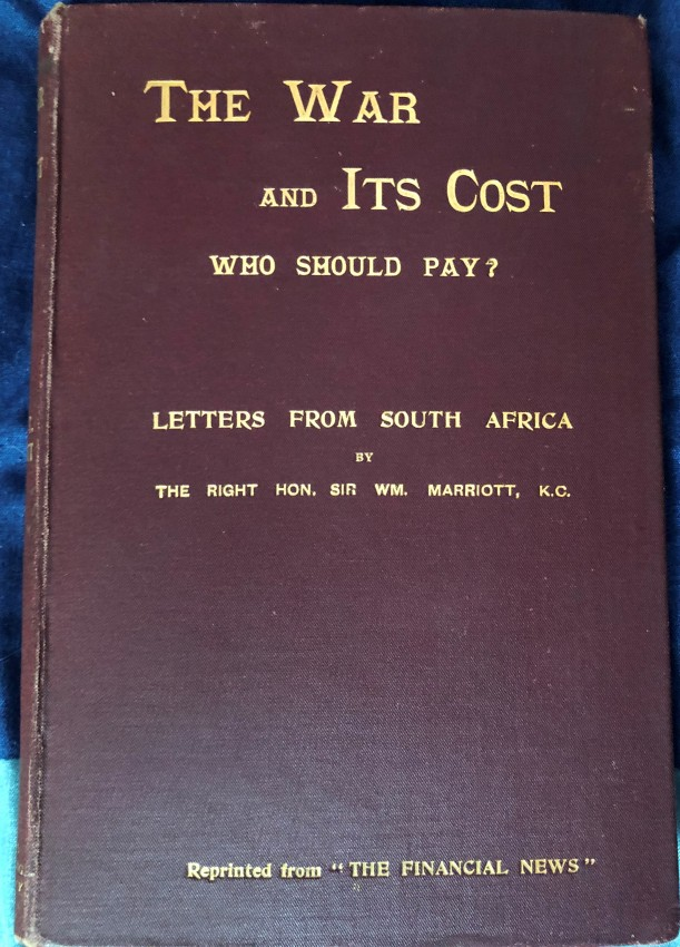 The War and Its Cost: Who Should Pay?