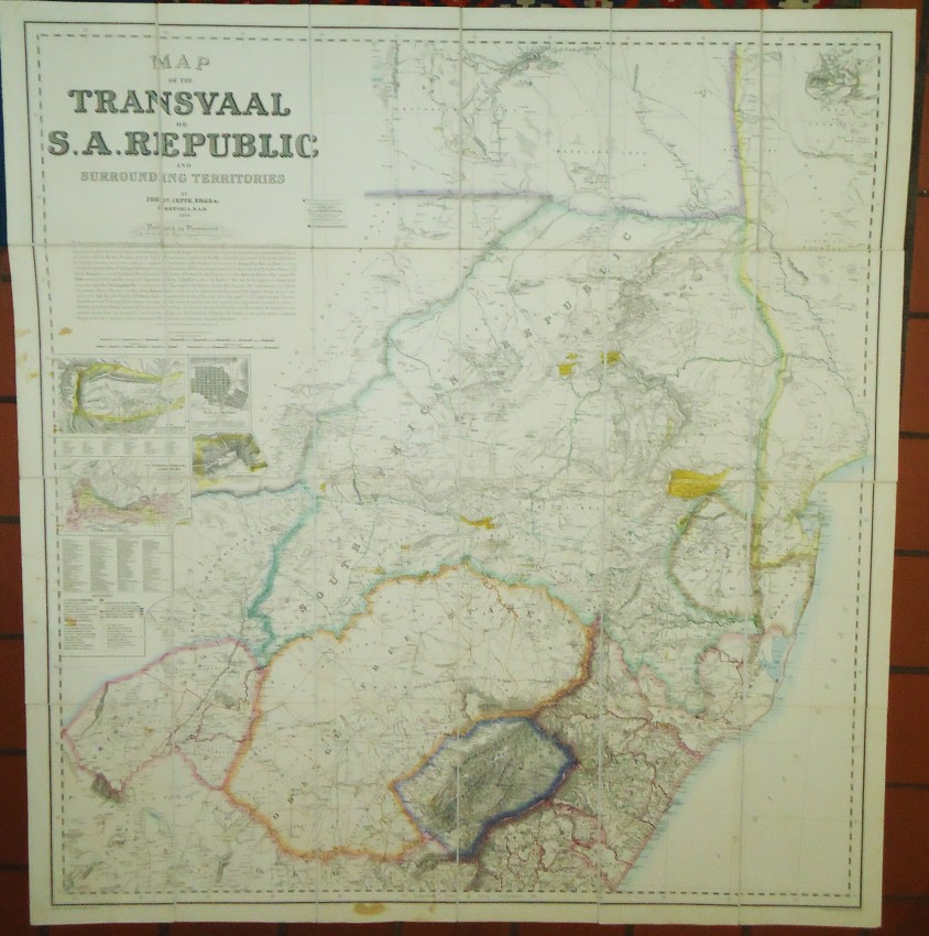 MAP OF THE TRANSVAAL OR S.A. REPUBLIC AND SURROUNDING TERRITORIES