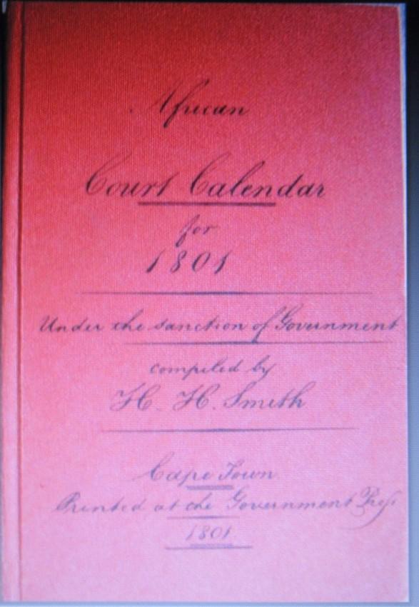 Cape Almanac Series. Volumes 1-29 (1801-1829)