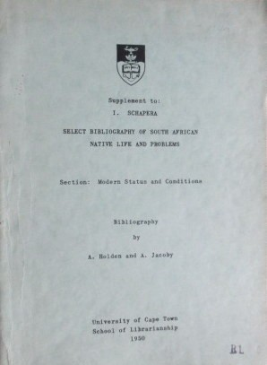 Sixteen University of Cape Town School of Librarianship Booklets 1950-1976
