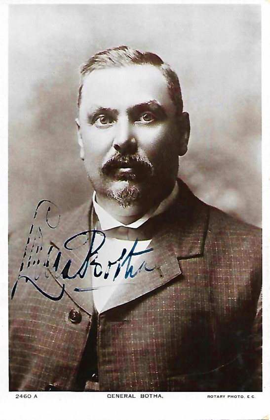 SIGNED PHOTOGRAPH/POSTCARD OF GENERAL LOUIS BOTHA