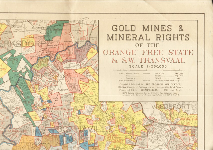 GOLD MINES AND MINERAL RIGHTS OF THE ORANGE FREE STATE & S.W.TRANSVAAL