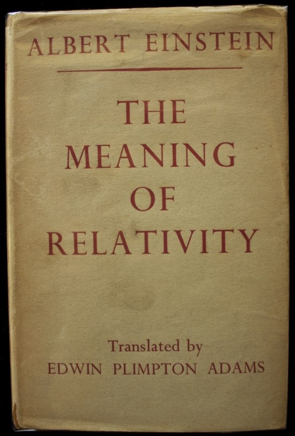 The Meaning of Relativity (2nd edition 1924 with scarce dust jacket)