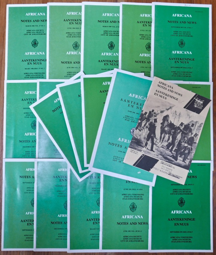 AFRICANA NOTES AND NEWS (Lot of 21 issues)