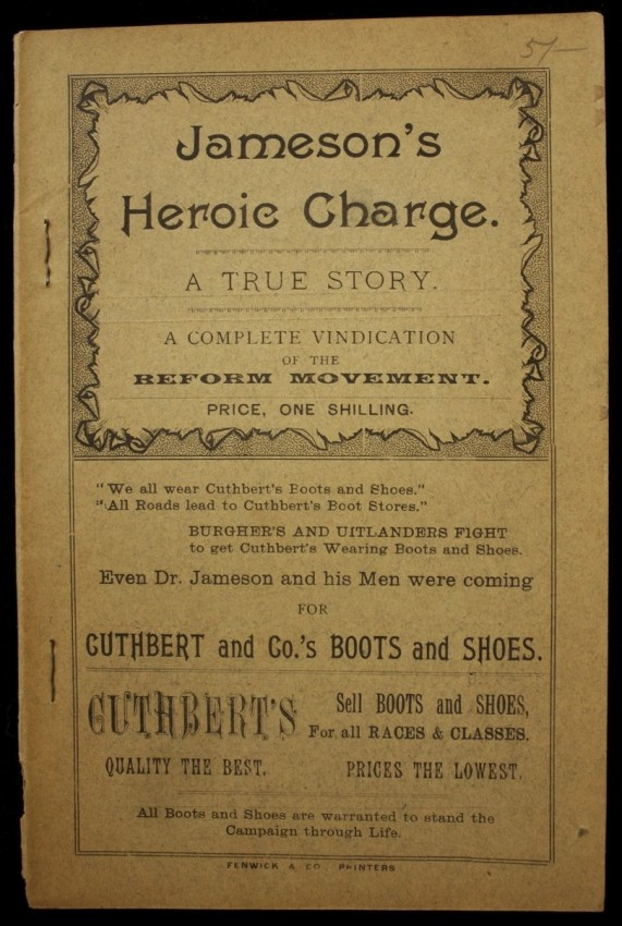 Jameson's Heroic Charge. A True Story. A Complete Vindication of the Reform Movement. (1896)