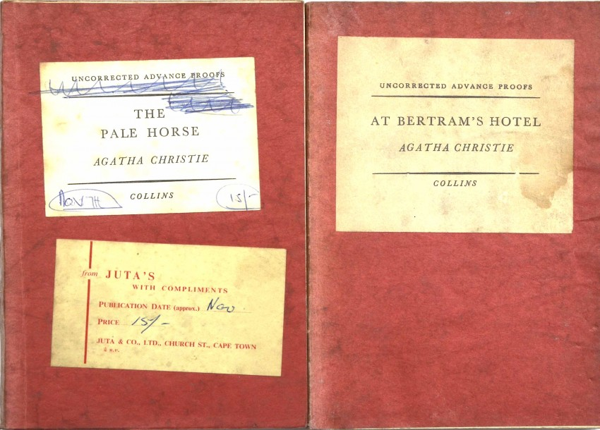 AGATHA CHRISTIE - TWO UNCORRECTED PROOF COPIES