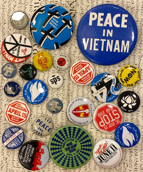 A collection of approx. 390 political & protest buttons