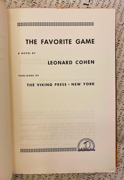 The Favorite Game a novel.