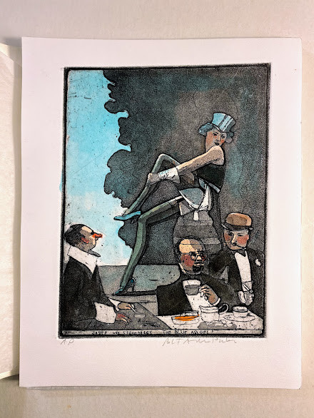 [Movies / 13 Hand Colored  / etchings / By / Robert Andrew Parker / W. Cornwall CT].