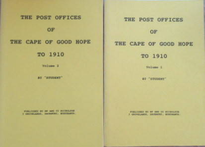 The Post Offices of The Cape Of Good Hope to 1910.  Plus Volumes on The Transvaal,Natal and The Orange Free State (5)