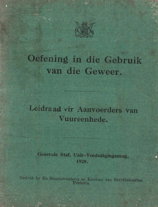 A COLLECTION OF SOUTH AFRICAN MILITARY PAMPHLETS