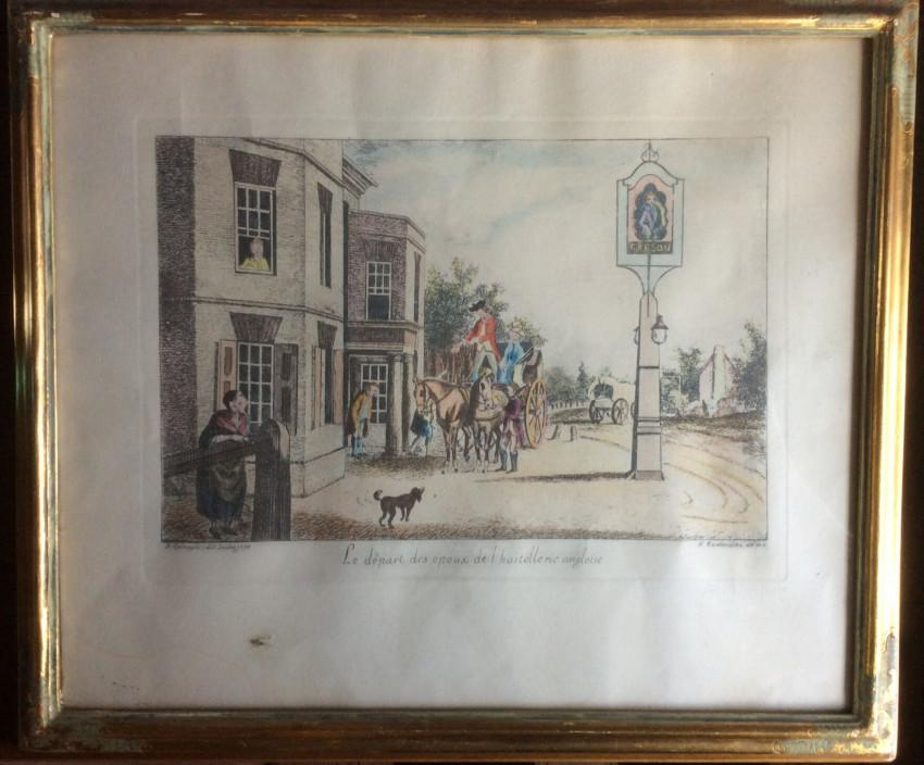 Le depart des epoux d l'hostellerie onglaise (1774)