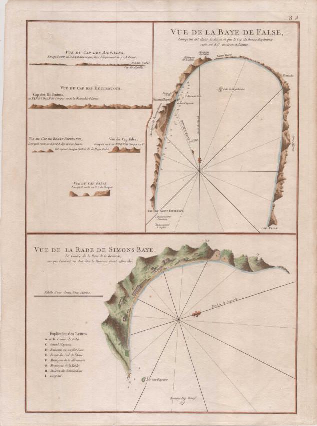 Vue de la Baye de False / Vue de la Rade de Simons-Baye.
