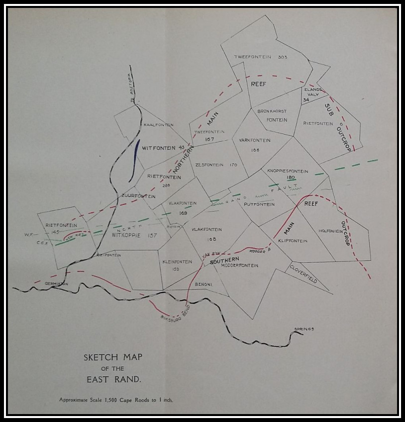 Faults and Dykes. A Geological Study of the Witwatersrand (First Edition; 1911)