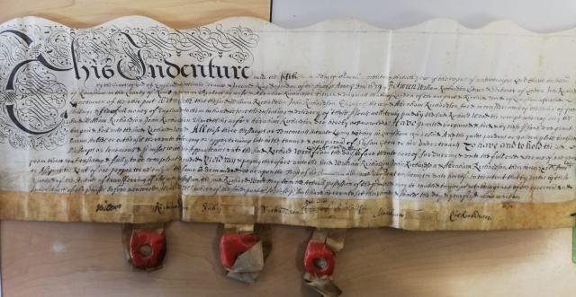 INDENTURE BETWEEN VARIOUS PARTIES 1679 ON PARCHMENT