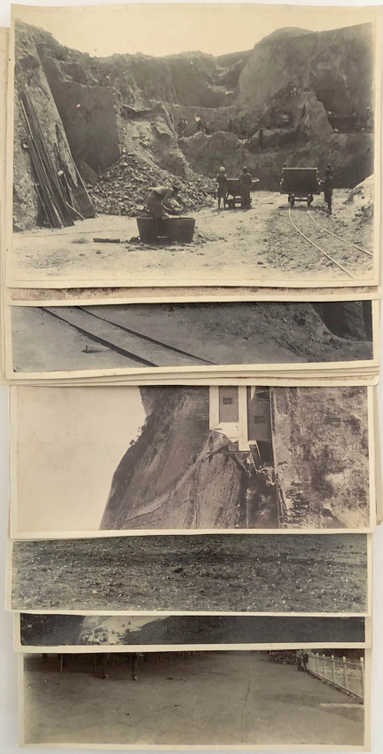 19 ORIGINAL PHOTOGRAPHS OF A BARBERTON GOLD MINE - 1886 - 1894