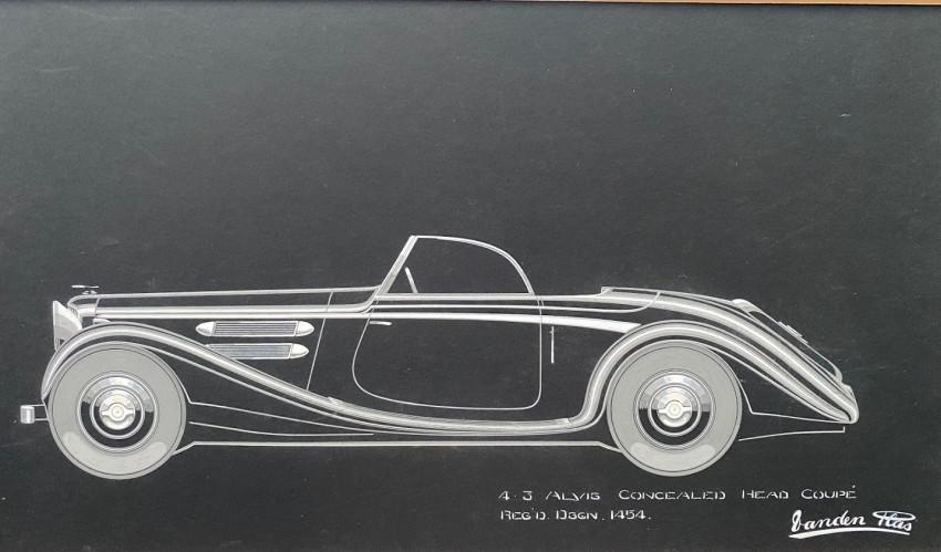4.3 ALVIS Concealed Head Coupé Regd. Dsgn. 1454. An original Vanden Plas concept design
