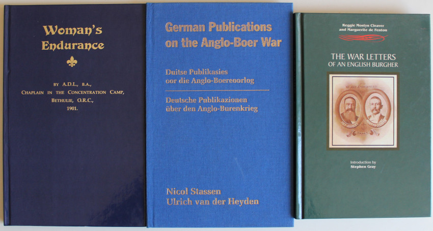 Woman's Endurance, The War Letters of an English Burgher & German publications of the Anglo-Boer War
