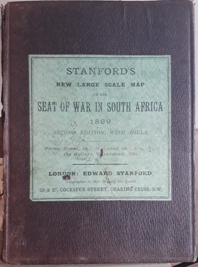 New larges scale map of the SEAT OF WAR IN SOUTH AFRICA