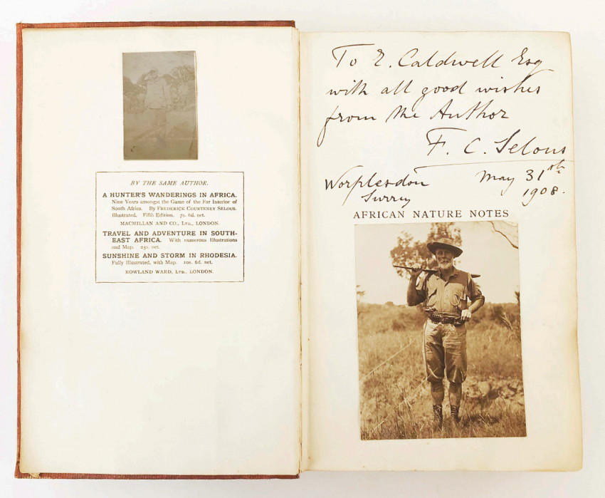 AFRICAN NATURE NOTES AND REMINISCENCES – INSCRIBED TO THE ILLUSTRATOR EDMUND CALDWELL