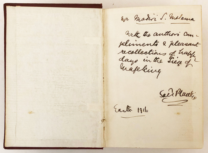 NATIVE LIFE IN SOUTH AFRICA – IMPORTANT INSCRIBED ASSOCIATION COPY