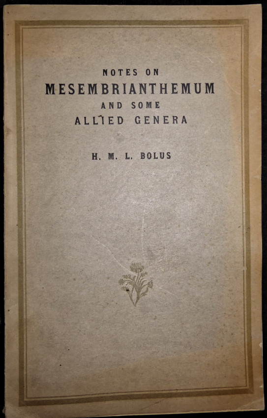 NOTES ON MESEMBRYANTHEMUM AND SOME ALLIED GENERA