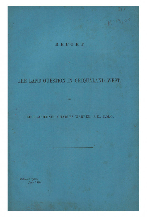 BLUE BOOKS ON GRIQUALAND and THE ORANGE FREE STATE