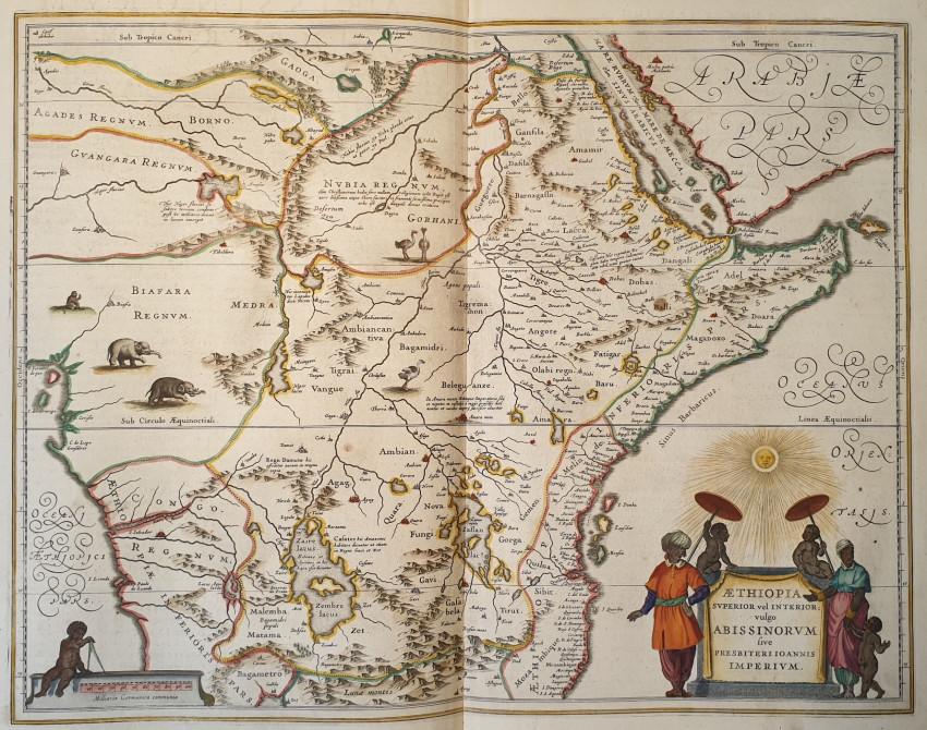 MAP EAST AFRICA - Aethiopia superior vel interior vulgo Abissinorum