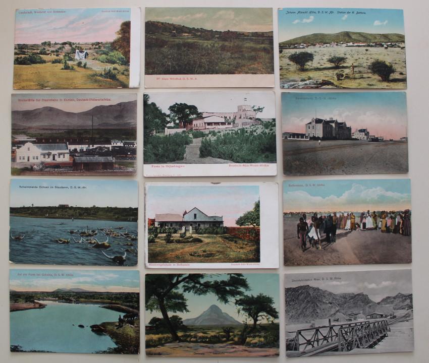 12 x D.S.W. Afrika postcards