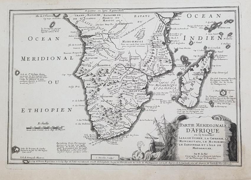 MAP SOUTH AFRICA - PARTIE MERIDIONALE D'AFRIQUE
