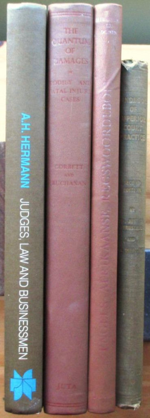 1 A Handbook of Superior Court Practice; 2 Engels-Afrikaans Regswoordboek; 3 The Quantum of Damages; 4 Judges, Law and Businessmen