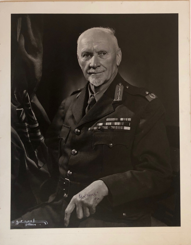 FINE ORIGINAL YOUSUF KARSH PORTRAIT OF GENERAL SMUTS SIGNED BY SMUTS