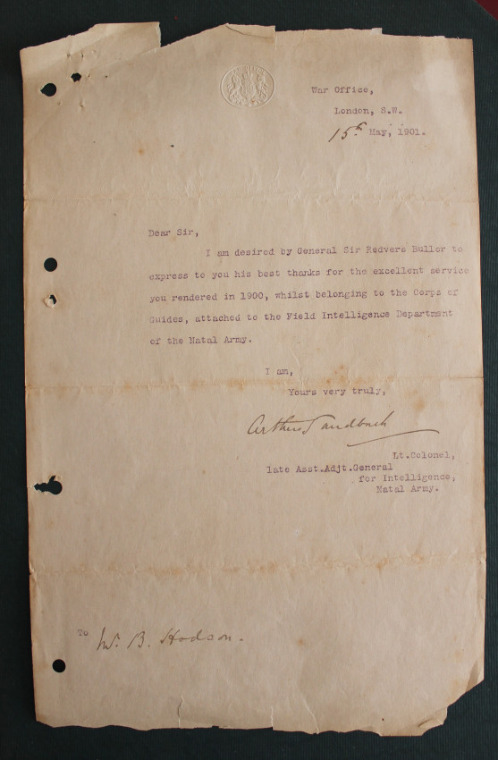 Boer War Letter dated 15th May 1901