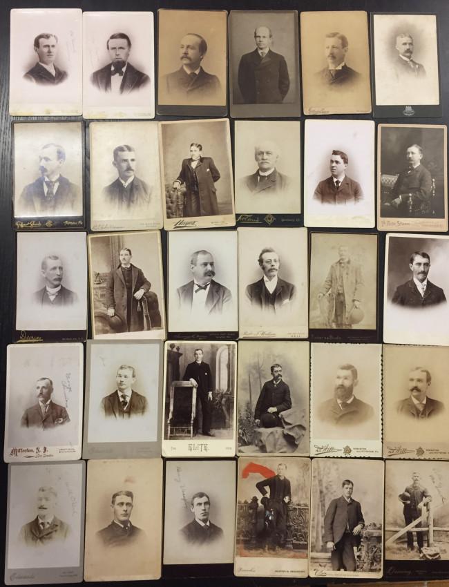 [Men]. Over 110 Cabinet Cards of Men.