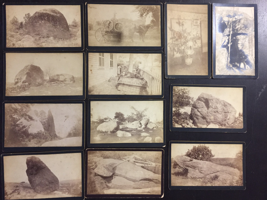 (Geology; Firemen)  Connecticut lot: 17 unusual cabinet cards, many of rock formations, 19th century.
