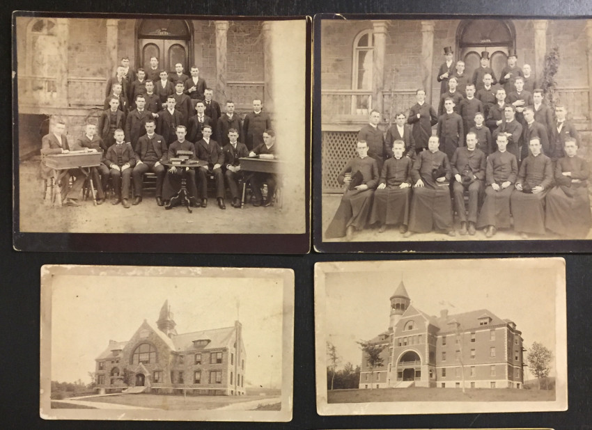[Class Portraits and Schools]. 8 mounted albumen images.