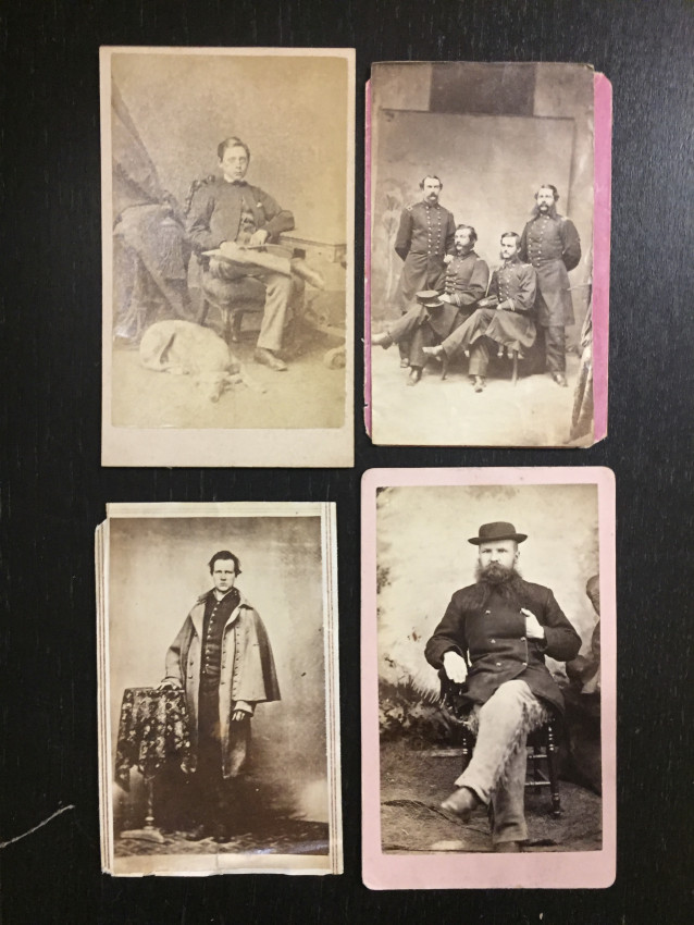 [Soldiers, Military]. 24 images, albumen and silver prints.
