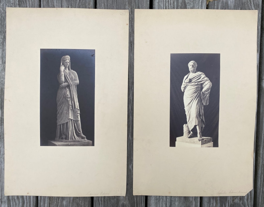 [Pair of images of Statues] Sophocles [and] Pudicizia