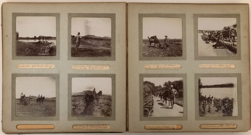 PHOTOGRAPH ALBUM WITH 124 FINE BOER WAR PHOTOGRAPHS BY EDGAR M. HYMAN