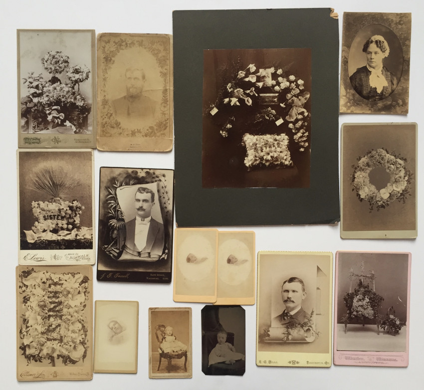 Memorial photographs and post-mortem images
