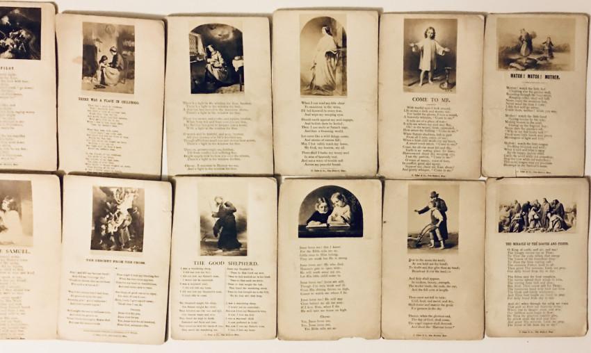 (Photographica ephemera)Early Photo illustrated Hymnal cards