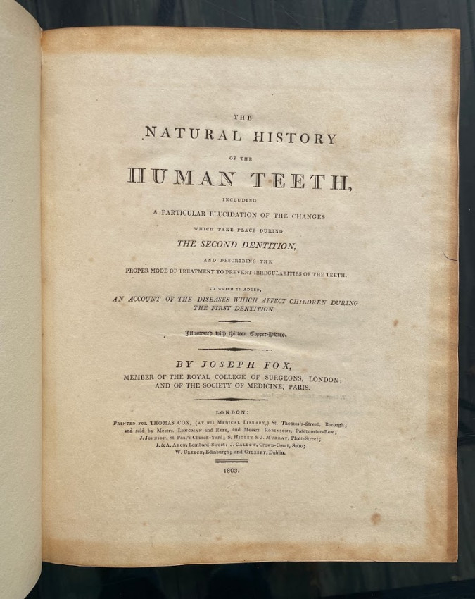 The Natural History of the Human Teeth.