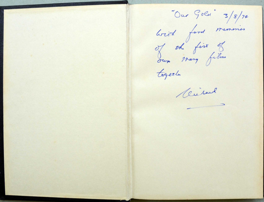"""WILBUR SMITH'S """"GOLD"""" - FILM SCRIPT - AUTHOR'S OWN COPY INSCRIBED BY THE PRODUCER"""