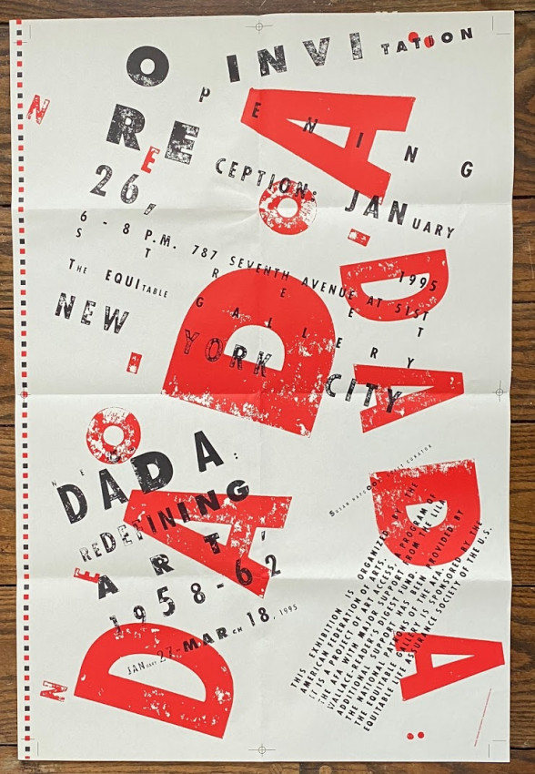 [Exhibition poster/invitation at The Equitable Gallery]  Neo-Dada Redefining Art 1958-62 ... Susan Hapgood guest curator