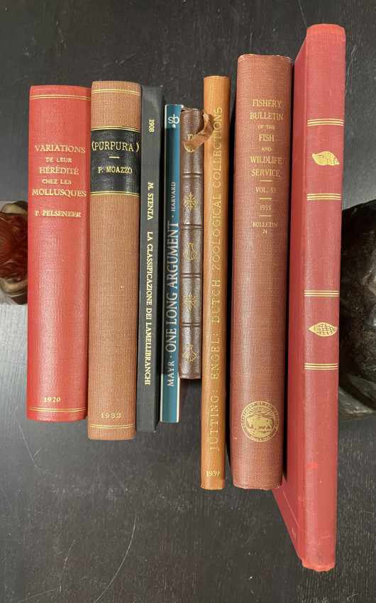 CONCHOLOGY BOOKS: Collection of signed and presentation copies.