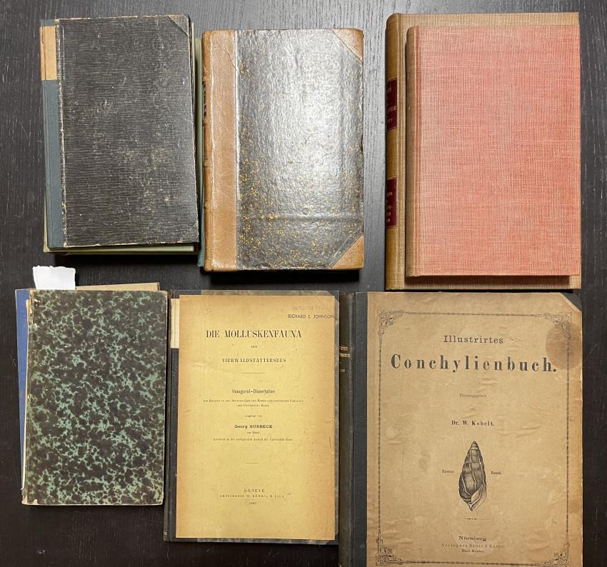 (PALEONTOLOGY; CONCHOLOGY) Scholar's Shelf of 19th Century German Scientific Publications