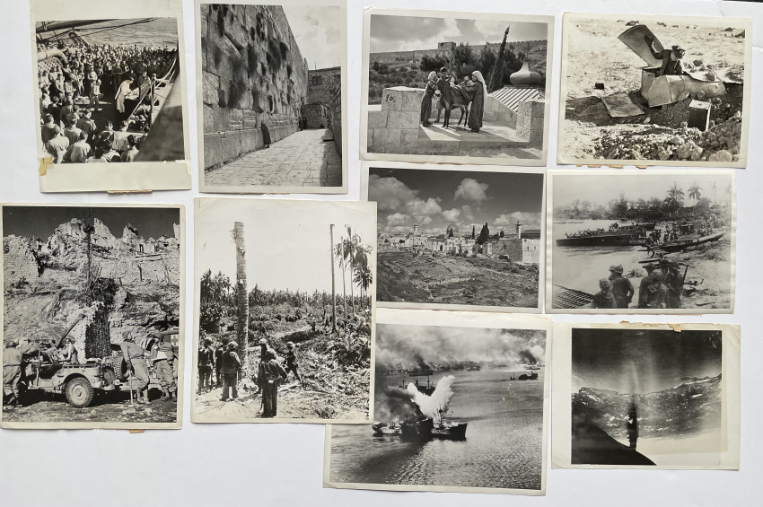 PHOTO LOT) WWII PHOTO LOT INCLUDING AVIATION, BOMBINGS,  & RARE MIDDLE EAST