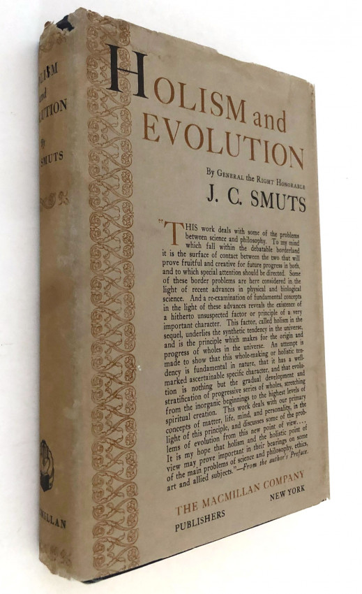 HOLISM AND EVOLUTION - FIRST US EDITION IN DUSTWRAPPER WITH AUTOGRAPH LETTER