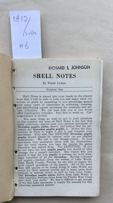 [Drop-head title] Shell Notes.
